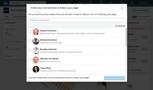 pop up how to invite connections to follow your linkedin company page